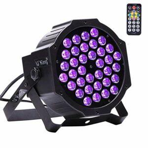 UKing UV LED Lumière 36 LED Projecteur UV Lumière Noire Lampe Wall Washer Éclairage Effets de Scène pour Bar Club Party Disco KTV