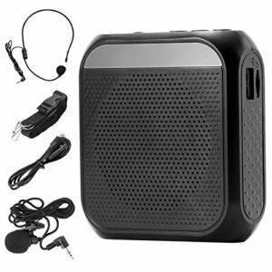 ZITFRI Amplificateur Vocal Portable Rechargeable 2200 mAh avec Microphone Casque et ceinture Haut-parleur Portable USB Carte TF Amplificateur de Voix Portable pour Enseignants Guides Touristiques