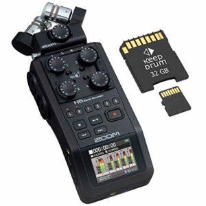 Zoom H6 Black Enregistreur audio mobile + carte mémoire 32 Go