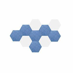 Z-XIYIN 10 Pcs Feutre De Feutre, Créativité Hexagonale Photo Mur en Feuillet De Planche D'école d'entreprise d'entreprise d'entreprise De Bureau Bureau Acoustique Panneaux(Color:#8)