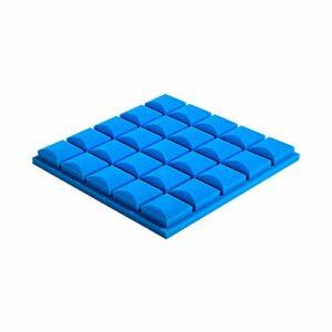 Z-XIYIN Carrelage en Mousse Acoustique Pyramide, 10 Pcs Panneaux Acoustiques Intérieurs à Haute Densité De Densité Coton Absorbant Sonore(Color:Bleu)
