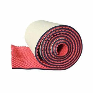 Z-XIYIN Coton Absorbant Le Son Rouge, Panneaux Acoustiques Recolssifs Auto-adhésifs Cinéma Avancé Acoustique Tapis D'insonorisation 1 * 5m(Color:Rouge)
