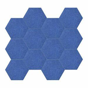 12pcs 14 * 13 * 0.4in Panneaux acoustiques Conception hexagonale Matériau en fibre de polyester Isolation phonique et thermique Isolation phonique Panneau insonorisant Mur amortissement ignifuge