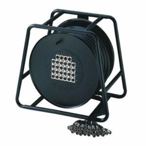 Adam Hall Cables K20C30D Câble multipaire sur enrouleur avec boîtier de scène 16/4 30 m
