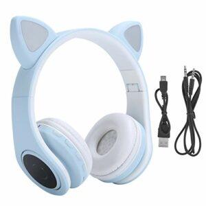 Agatige Casque Bluetooth 5.0 avec Crochet d'oreille, Casque sans Fil Pliable à Réduction De Bruit avec Microphone, avec Coussinets d'oreille Souples.