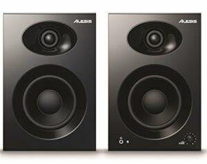 Alesis Elevate 4 – Paire d'Enceintes PC Actives pour Monitoring Studio, Montage Vidéo, Gaming, Musique ou pour les Brancher à Votre Piano Numérique ou Clavier Maître