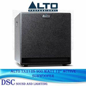 ALTO TX212S Caisson de basses amplifié classe D 900 W 30,5 cm avec modes de sortie DSP