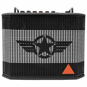 Amplificateur de Guitare Haut-parleur Recharge Bluetooth Fournitures Instruments de Musique 120W 110-240V Prise en Charge iOS/Android Réglage du Volume du Casque(black)