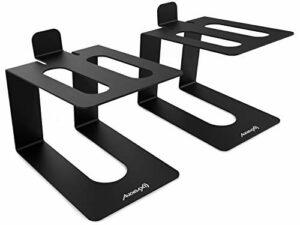 Audibax Neo STM-40 Support de bureau pour moniteur et haut-parleur (paire)