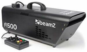 BeamZ Fazer F1500 – Machine à brouillard professionnelle, 1500 Watts, machine à brouillard avec télécommande, réservoir 2L, contrôle DMX