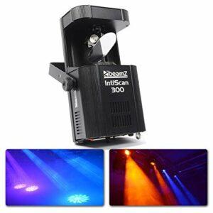 BeamZ INTISCAN 300 Scanner LED 30 Watts – 8 canaux DMX, 8 gobos, Effet stroboscopique, Mode DMX ou autonome, Fonction maitre/esclave, Shows préprogrammés, Ecran de contrôle LCD