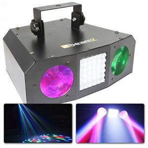 BeamZ URANUS LED Double Moonflower avec Stroboscope, DJ Light Effect, Stroboscope, Jeu de Lumières, Contrôle Musical, Multicolor, Plafond / Mur, Rotation Automatique / Rythmé