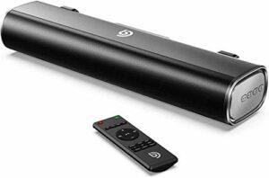 Bomaker Mini Barre de Son 50W Soundbar 16-inch avec Connection Bluetooth 5.0, Optique, AUX et USB pour TV, PC, Ordinateur, Téléphone Portable, Videoprojecteur, PS4, Xbox