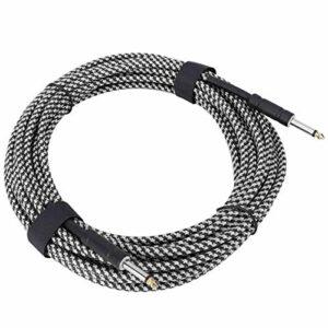 Câble audio de câble d'instrument durable pour un usage professionnel pour les adultes(Black and white)