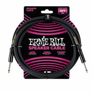 Câble d'enceinte droit / droit Ernie Ball 6 '
