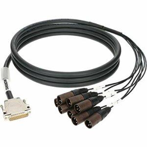 Câble multicanal numérique 8 canaux – D-sub25 – XLR M – 1 m.