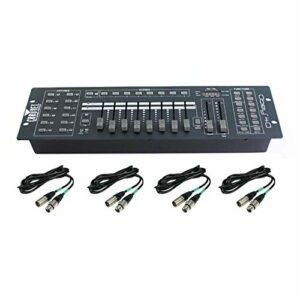 Chauvet DJ OBEY40 Obey 40 DMX-512 Contrôleur de lumière universel avec câbles de 25,4 cm et 25,4 m