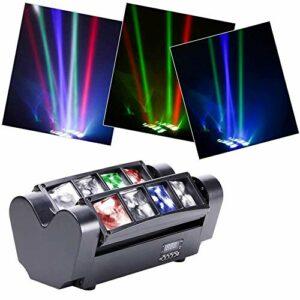 CHENJIA Moving Head Stage Light DJ Araignée Light LED 8x10w 4 Couleur LED DMX512 Portable DJ Disco LED de scène for Les Parties KTV Bar intérieur du Club