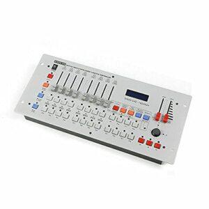 Contrôleur DMX512 Éclairage de scène Canaux Contrôleur DMX sans fil Blanc Projecteur mobile Controller Table Equippment pour DJ club fête Disco Scène Lumière