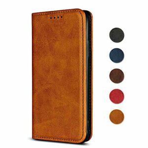 Coque SONY Xperia XZ Premium, GORASS Flip Case PU Cuir Support Portefeuille, Ultra Fin & Léger Coque avec Fermeture magnétique pour SONY Xperia XZ Premium, Jaune