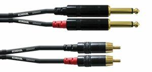 CORDIAL Câble audio double jack mono/Rca 1,5 m