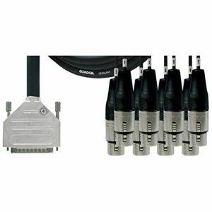 CORDIAL Câble interface sub-D/8 XLR femelles 1,5 m