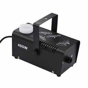 CuteLife Machine à Fumée Machine De Fumée De Brouillard De Brouillard De Fogueur De 400 Watts sans Fil avec Télécommande pour Les Fêtes de Fin d'année (Couleur : Black, Size : AU Plug)