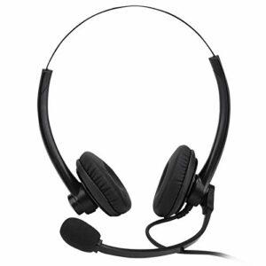 DAUERHAFT Casque Supra-auriculaire à Balance tonale Casque à réduction de Bruit Filaire Qualité sonore Claire, pour Les Jeux, pour la Diffusion Professionnelle, pour l'opérateur