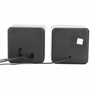 Denkerm Haut-Parleur USB Noir stéréo en Plastique, Haut-Parleur de Bureau, léger pour la Maison pour Ordinateur de Bureau Portable(Two-Channel)