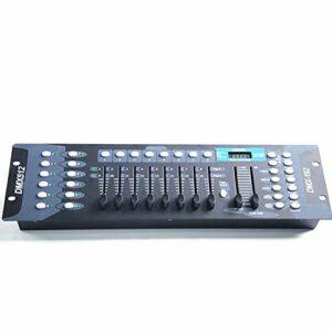 Dimmen DMX512 Contrôleur Contrôleur D'éclairage de Scène 192 Eclairage D'étape de Console Canaux Contrôleur pour Scène Lumière Saint-Valentin Fête DJ Controlle Disco Bar 90-220V Blitz