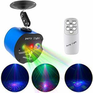 Disco Lights, 3 Lens Party Lights Dj Stage Strobe Lights Projecteur Effet Son Activé avec Télécommande pour Xmas Bar Parties Karaoké KTV Noël Halloween