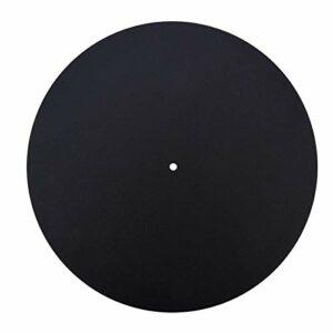 Disque vinyle ultra-mince antistatiqueTableau plat souple Slipmat Pad Mat Anti-Vibration Audiophile(2mm)