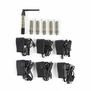 DMX512 Émetteur radio 2,4 G + 5 récepteurs pour éclairage de scène