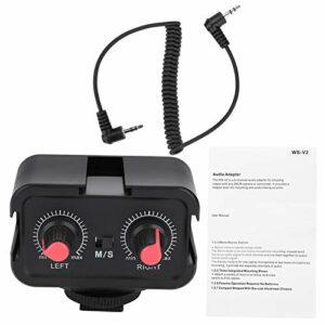 Emoshayoga Mélangeur de caméra Adaptateur Audio WS-V2 Mélangeur de Micro pour appareils Photo Reflex numériques