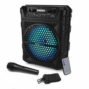 Enceinte KoolStar SOUNDKUB08 autonome à LED – 200W 8″ – USB/SD/BT + Micro + Télécommande