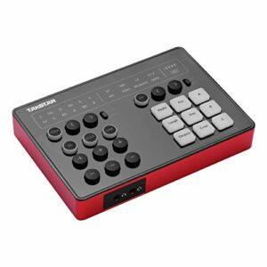 Fariy Carte Son Externe,Carte son de diffusion en direct Portable SC-M1 avec DSP pour ordinateur tablette de téléphone pour l'enregistrement de en streaming en direct