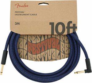 Fender® Festival – Câble Pour Instrument – 3m – Droit/Angle – Bleu