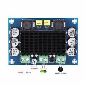 Germerse Carte d'amplificateur de Puissance Protection Contre la surchauffe dissipateur de Chaleur Noir Protection sous Tension Module d'amplificateur de Puissance pour l'industrie des Machines de