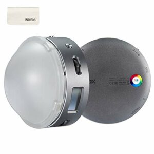 Godox R1 RGB LED Light 2500K-8500K 3 Modes de Lumière Bi-Colore 39 FX Effets de scènes avec Batterie au Lithium 1800mA pour Tournage de Vidéo, Diffusion en Direct, Micro-Film, Prise de Vue