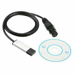 Haude DMX512 Interface USB DMX Contrôleur d'éclairage de scène LED Interface USB vers DMX Contrôleur DMX
