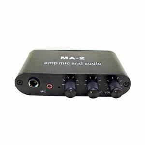 Haude Microphone dynamique 6,5 mm à condensateur 3,5 mm Amplificateur de casque Amplificateur de musique Audio Préamplificateur Table de mixage