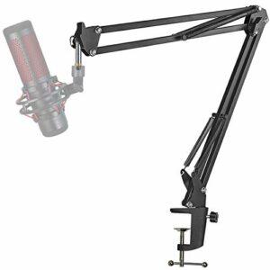 HyperX Quadcast Support Microphone Réglable – Pied Professionnel pour Microphone à Condensateur HyperX QuadCast S par YOUSHARES