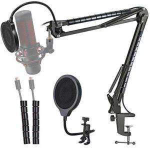 Hyperx Quadcast Support Microphone Réglable Professionnel et Filtre Anti-pop avec 3 Couches et Tube de Fixation pour Microphone Hyperx Quadcast par YOUSHARES