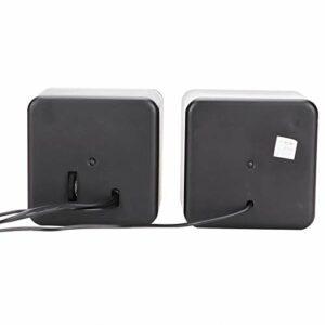 Jacksing Haut-Parleur d'ordinateur, Haut-Parleur USB Compact stéréo pour Ordinateur Portable(Two-Channel)