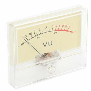 Jeanoko Outil de haute précision VU mètre audio, tête de niveau DB, lumière blanche durable, ampoule 12 V 55 mA pour bricolage avec cadran de type pointeur, studio d'enregistrement