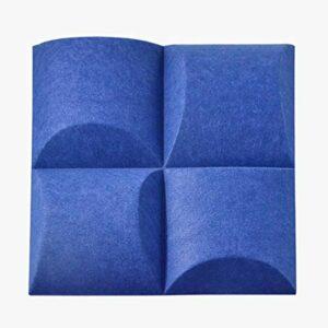 LOPKIH Panneaux De Mousse Acoustique Board Absorbant Sonore en Fibres De Polyester 3D 10Pcs,Bleu