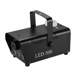 Machine à Fumée Machine De Fumée De Brouillard De Fogueur 400W avec Lumières De Couleur LED/Télécommande sans Fil pour Les Fêtes de Fin d'année (Couleur : Black, Size : EU Plug)