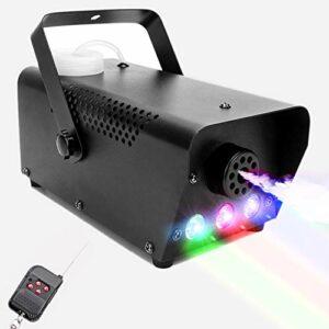 Machine à fumée Morfit 500 W avec lumière LED 2000 CFM, 3 stages, machine à fumée filaire et sans fil pour Halloween, fête de mariage et effet scène.