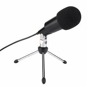 Microphone d'enregistrement Plug and Play, Microphone Filaire, Microphone d'enregistrement de Diffusion, Microphone d'enregistrement de conférence pour Studios d'enregistrement,(USB)