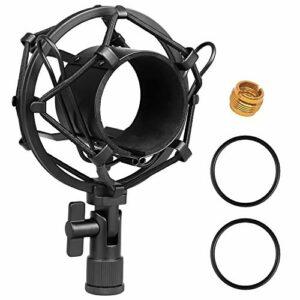 Moukey Support de Universel pour Microphone de 51 mm pour Microphone à Condensateur avec Diamètre de 48 mm-54 mm
